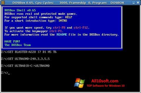 Ekran görüntüsü DOSBox Windows 10