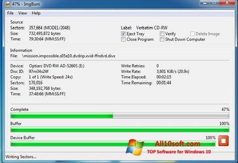 Ekran görüntüsü ImgBurn Windows 10