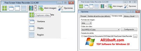 Ekran görüntüsü Free Screen Video Recorder Windows 10