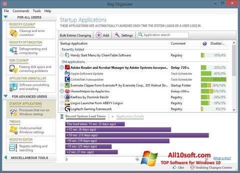 Ekran görüntüsü Reg Organizer Windows 10