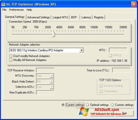 Ekran görüntüsü TCP Optimizer Windows 10