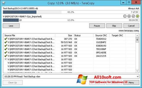 Ekran görüntüsü TeraCopy Windows 10