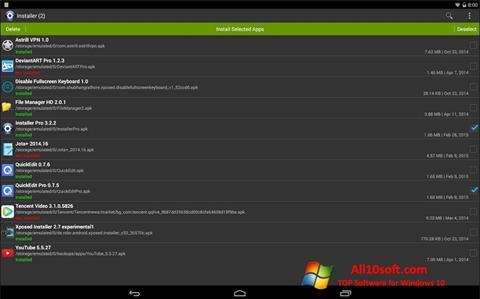 Ekran görüntüsü InstAllAPK Windows 10