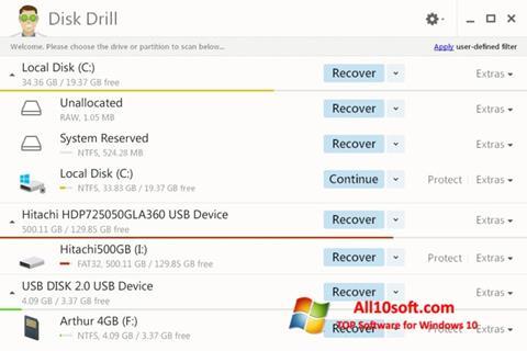 Ekran görüntüsü Disk Drill Windows 10