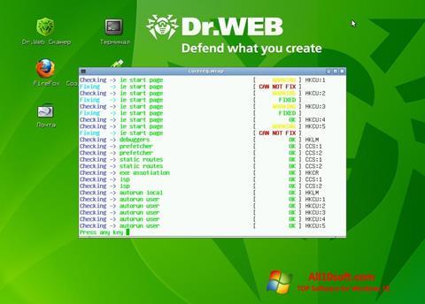 Ekran görüntüsü Dr.Web LiveCD Windows 10