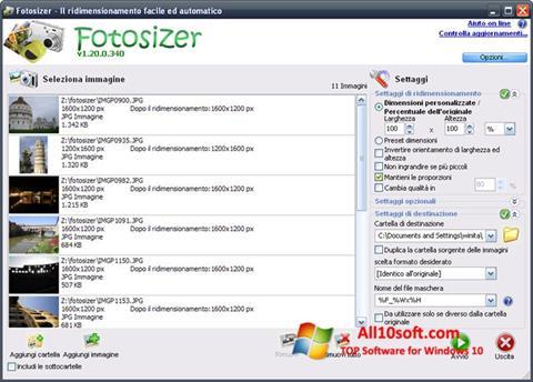 Ekran görüntüsü Fotosizer Windows 10
