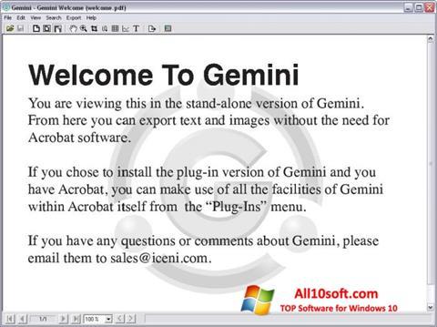 Ekran görüntüsü Gemini Windows 10