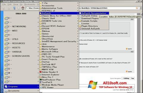Ekran görüntüsü AviSynth Windows 10
