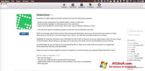 Ekran görüntüsü Greenshot Windows 10