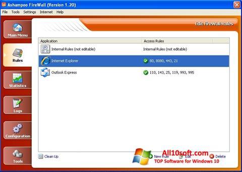 Ekran görüntüsü Ashampoo Firewall Windows 10