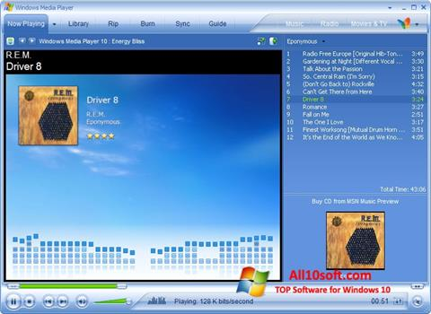 Ekran görüntüsü Media Player Windows 10