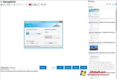 Ekran görüntüsü AeroAdmin Windows 10