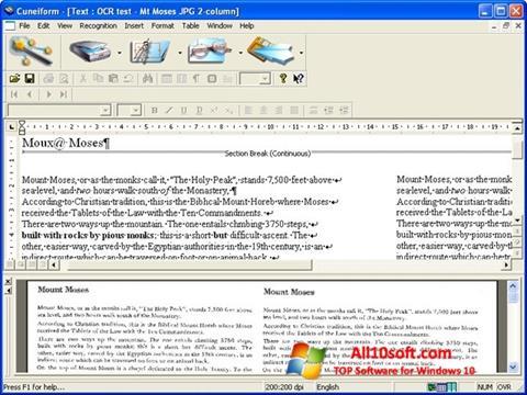 Ekran görüntüsü CuneiForm Windows 10