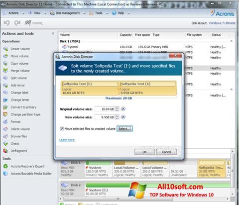 Ekran görüntüsü Acronis Disk Director Suite Windows 10