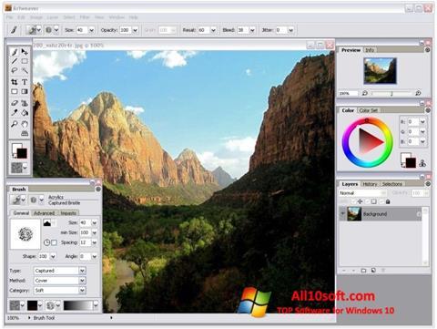 Ekran görüntüsü Artweaver Windows 10