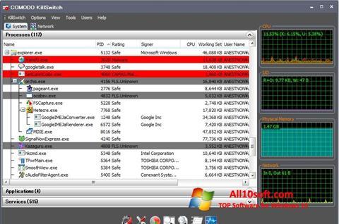 Ekran görüntüsü Comodo Cleaning Essentials Windows 10