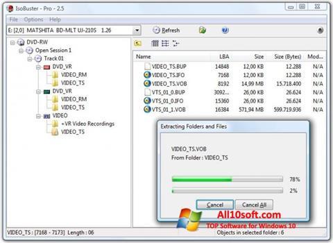 Ekran görüntüsü IsoBuster Windows 10