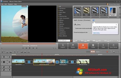 Ekran görüntüsü Movavi Video Editor Windows 10