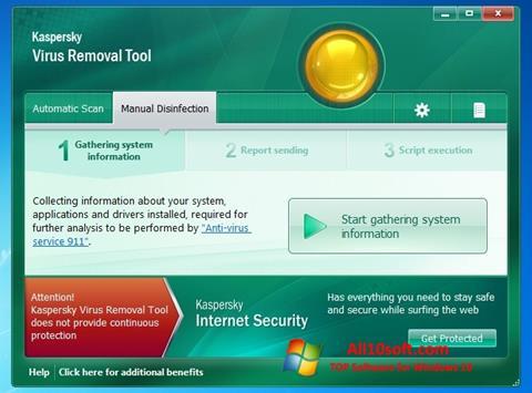 Ekran görüntüsü Kaspersky Virus Removal Tool Windows 10