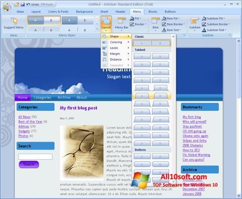 Ekran görüntüsü Artisteer Windows 10