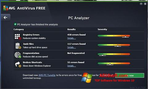 Ekran görüntüsü AVG AntiVirus Free Windows 10