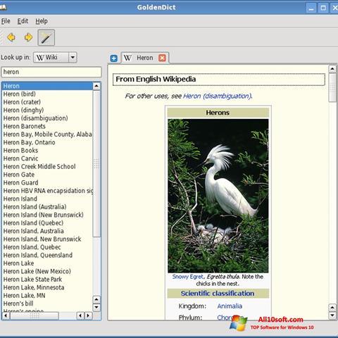 Ekran görüntüsü GoldenDict Windows 10