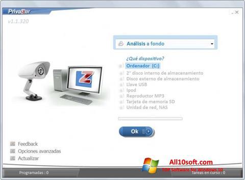 Ekran görüntüsü PrivaZer Windows 10