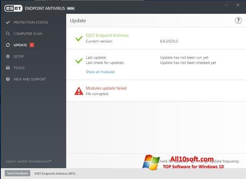 Ekran görüntüsü ESET Endpoint Antivirus Windows 10