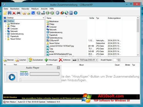 Ekran görüntüsü CDBurnerXP Windows 10