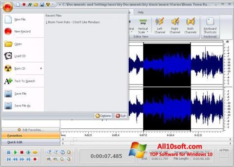 Ekran görüntüsü Free Audio Editor Windows 10