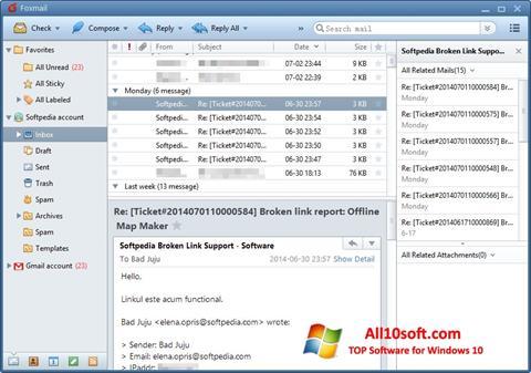 Ekran görüntüsü FoxMail Windows 10