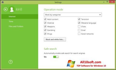 Ekran görüntüsü Dr.Web Security Space Windows 10