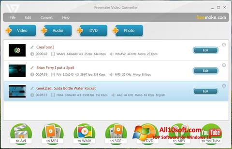 Ekran görüntüsü Freemake Video Converter Windows 10