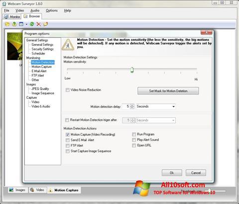 Ekran görüntüsü Webcam Surveyor Windows 10