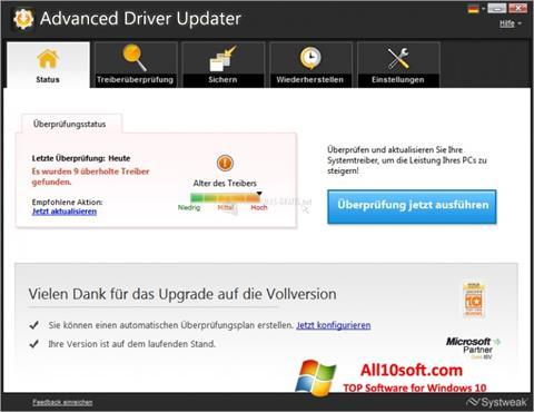 Ekran görüntüsü Advanced Driver Updater Windows 10