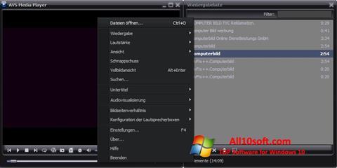 Ekran görüntüsü AVS Media Player Windows 10