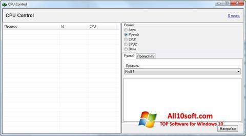 Ekran görüntüsü CPU-Control Windows 10
