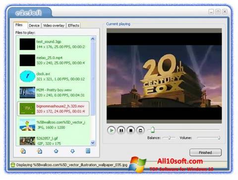 Ekran görüntüsü VCam Windows 10
