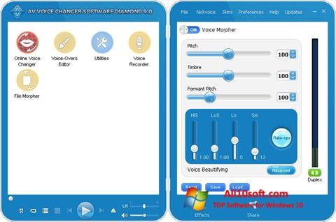 Ekran görüntüsü AV Voice Changer Diamond Windows 10
