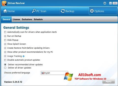 Ekran görüntüsü Driver Reviver Windows 10