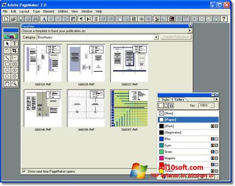 Ekran görüntüsü Adobe PageMaker Windows 10