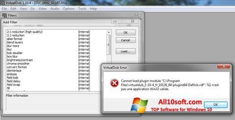 Ekran görüntüsü VirtualDub Windows 10