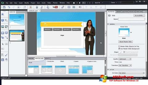 Ekran görüntüsü Adobe Captivate Windows 10