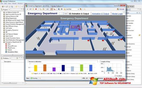 Ekran görüntüsü AnyLogic Windows 10
