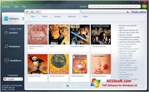Ekran görüntüsü MediaGet Windows 10