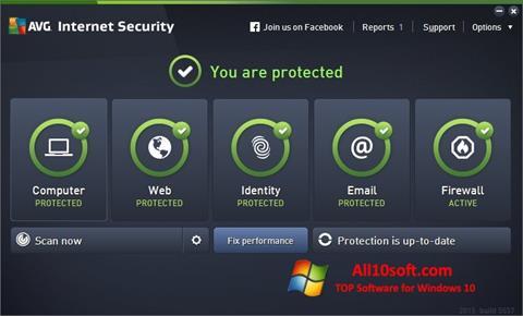 Ekran görüntüsü AVG Internet Security Windows 10