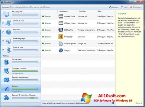 Ekran görüntüsü CleanMyPC Windows 10