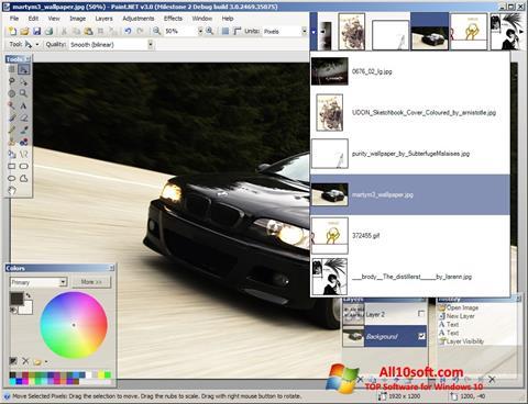 Ekran görüntüsü Paint.NET Windows 10