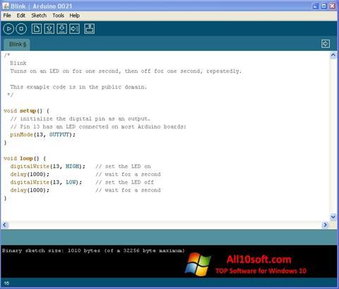 Ekran görüntüsü Arduino Windows 10