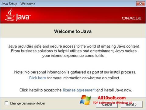 Ekran görüntüsü Java Runtime Environment Windows 10